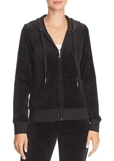 Juicy Couture Black Label Gothic-Logo Zip Hoodie