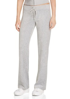 Juicy Couture Black Label Original Flare Velour Pants