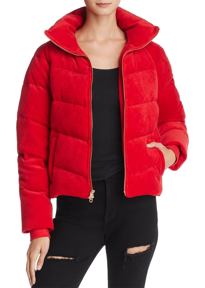 dce5a520db Juicy Couture Juicy Couture Black Label Velour Down Puffer Jacket ...