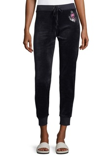Juicy Couture Black Label Velour Track Pants