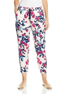 Juicy Couture Black Label Women's Aster Bouquets Silk Harem Pant
