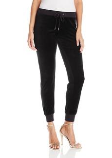 Juicy Couture BLACK LABEL Women's Bling Zuma Velour Pant  L