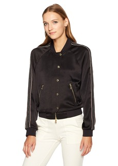 Juicy Couture Black Label Women's Duchess Satin Jacket Pitch XS
