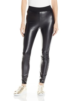 Juicy Couture Black Label Women's Faux Leather Skinny Leggings with Back Zipper