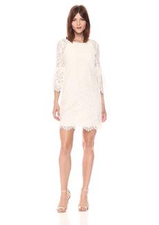 Juicy Couture Black Label Women's Floral Lace Woven Dress