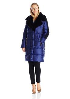 Juicy Couture Black Label Women's Hw Novelty Puffer Faux Fur Coat Regal_Pitch Black S
