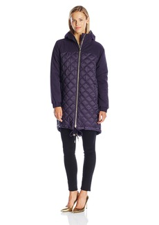 Juicy Couture Black Label Women's Hw Quilted Nylon Puffer Parka  L