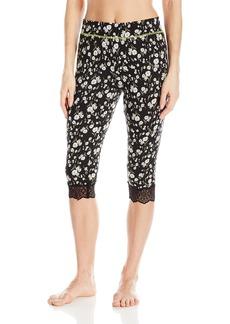 Juicy Couture Black Label Women's Lace Trim Crop Pant