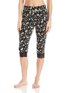 Juicy Couture Black Label Women's Lace Trim Crop Pant