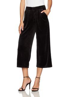 Juicy Couture BLACK LABEL Women's Lightweight Velour Cropped Wide Leg Trouser  XL