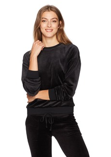 Juicy Couture Black Label Women's Lightweight Velour Paradise Cove Pullover  M