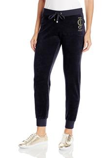 Juicy Couture BLACK LABEL Women's Logo Velour Juicy Sunburst Slim Pant