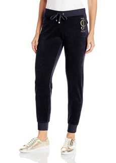 Juicy Couture Black Label Women's Logo Vlr Sunburst Slim Pant