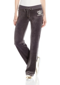 Juicy Couture Black Label Women's Logo Vlr Crown Jewel Bootcut Pant