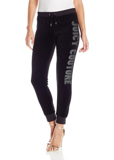 Juicy Couture Black Label Women's Logo Vlr Crystal Zuma Pant  L