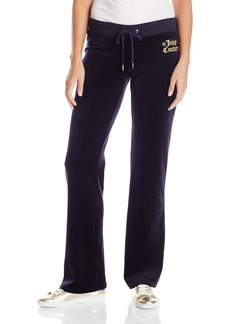 Juicy Couture BLACK LABEL Women's Logo Velour Geo Crown Del Rey Pant  S