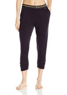 Juicy Couture Black Label Women's Lurex Logo Easy Fit Slim Pant