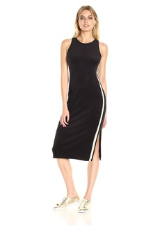Juicy Couture Black Label Women's Microterry Tank Dress with Racer Stripe  M