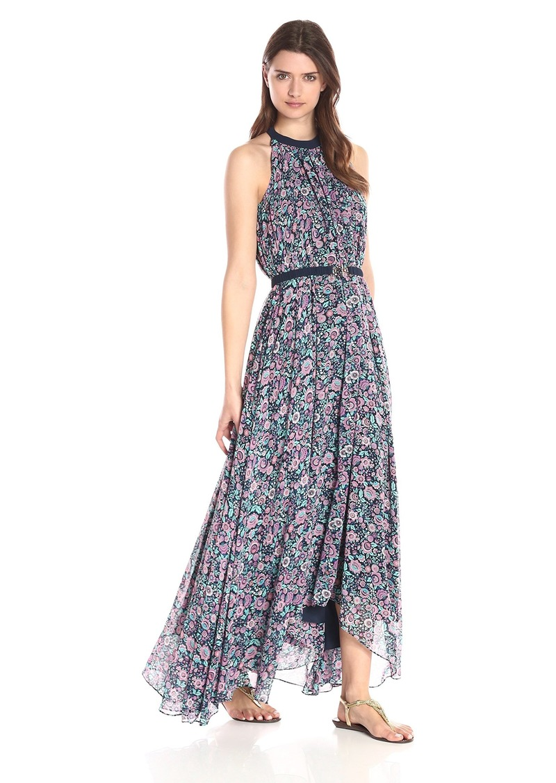 Juicy Couture Black Label Women's Riviera Blossoms Printed Maxi Dress Regal