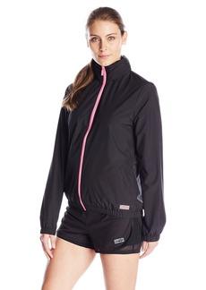 Juicy Couture Black Label Women's Sport Compression Fitted Jacket P Black JC Monogram Print