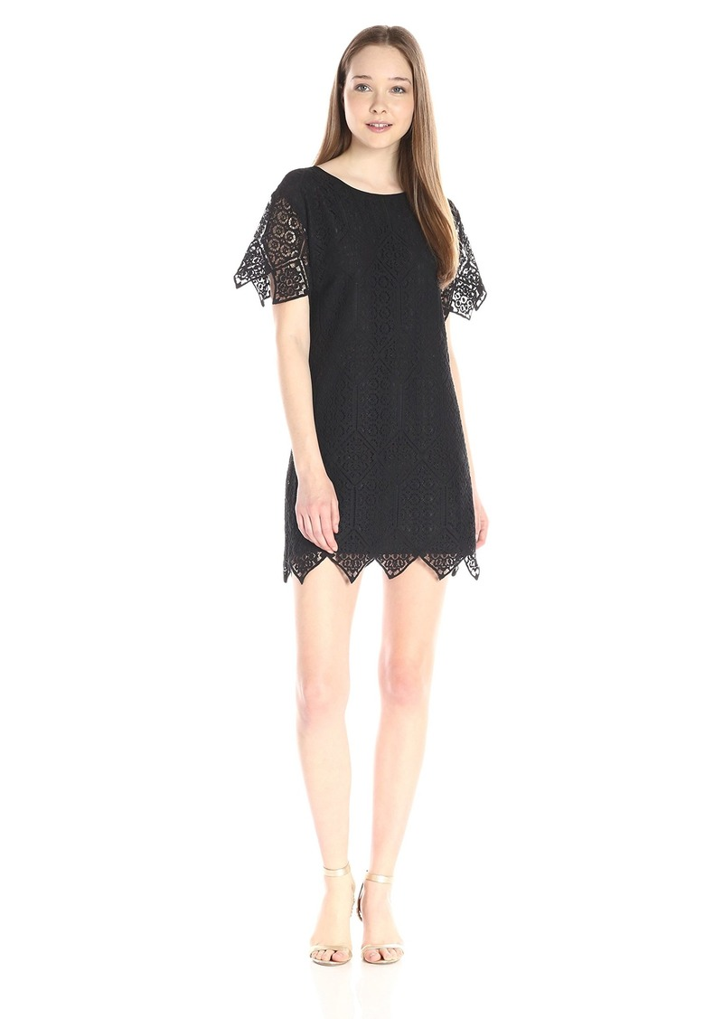 Juicy Couture Black Label Women's Sw Menara Lace Shorsleeve Dress