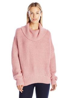 Juicy Couture Black Label Women's SWTR Basket Weave Stitch Loose Pullover  L