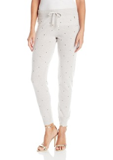 Juicy Couture Black Label Women's Swtr Embellished Cashmere Track Pant  S