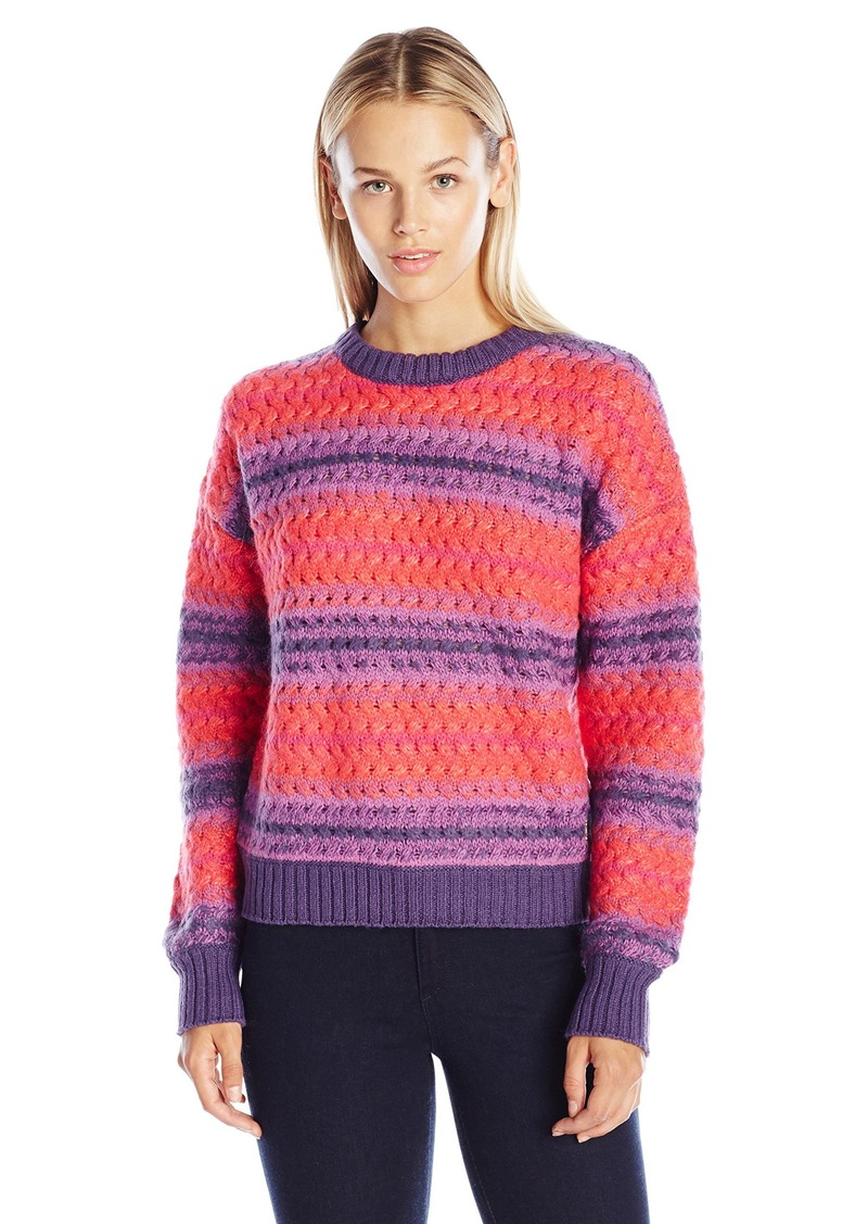 Juicy Couture Black Label Women's SWTR Twisted Ombre Cable Pullover Dfruit_Tbrry_Orchid L