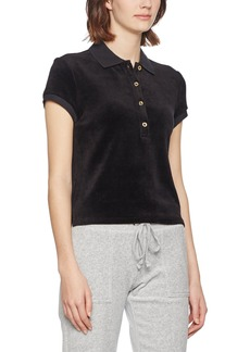 Juicy Couture BLACK LABEL Women's Stretch Velour Polo  L