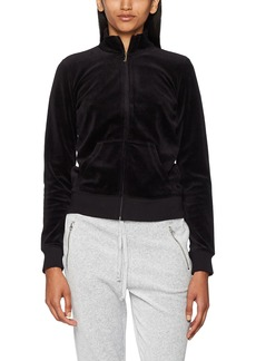 Juicy Couture Black Label Women's Velour Fairfax Fitted Jacket Pitch