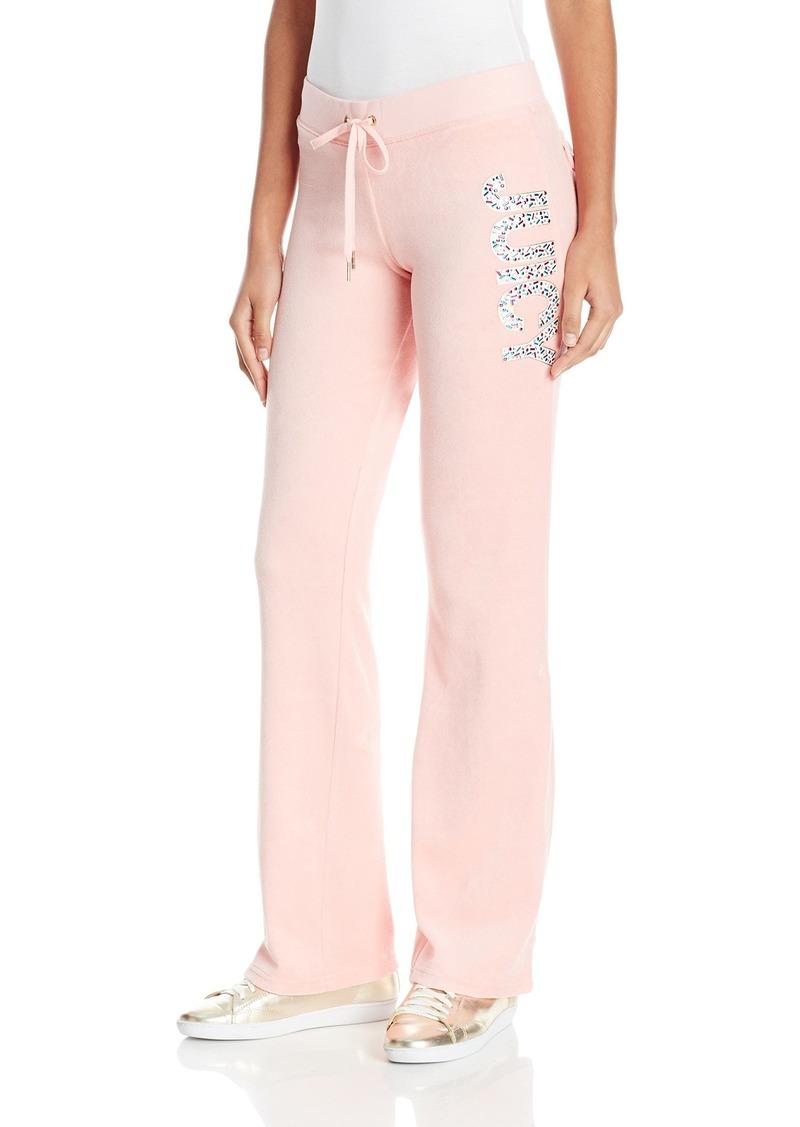 Juicy Couture Black Label Women's Velour Glam Sprinkles Del Rey Pant  L
