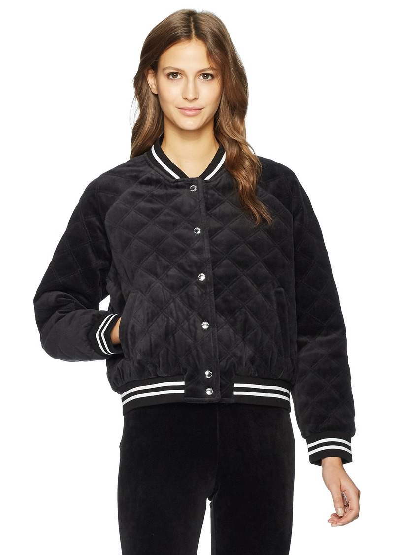 Juicy Couture Juicy Couture Black Label Womens Velour Quilted