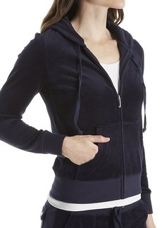 Juicy Couture Black Label Women's Velour Robertson Jacket  M