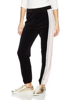 Juicy Couture Black Label Women's Velour Sporty Heritage Mid-Rise Pant  L