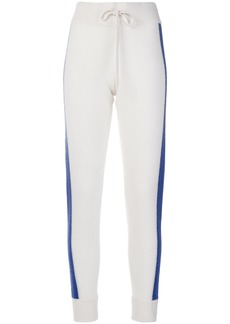 Juicy Couture cashmere striped track pants - Nude & Neutrals