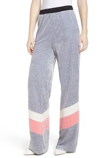 Juicy Couture Colorblock Velour Wide Leg Pants