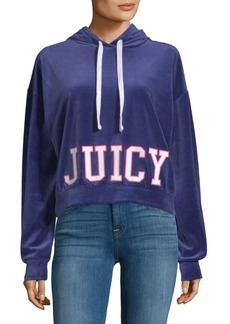 Juicy Couture Cropped Velour Hoodie
