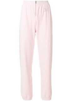 Juicy Couture Swarovski embellished velour jogger pant - Pink & Purple