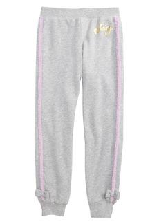 Juicy Couture Faux Fur Trim Jogger Pants (Big Girls)