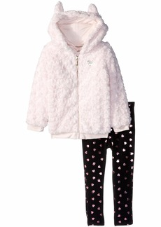 Juicy Couture Girls' Big 2 Pieces Jacket Set-Faux Fur  8/10