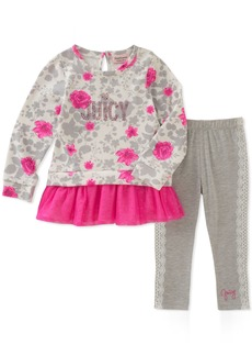 Juicy Couture Girls' Little 2 Pieces Long Sleeves Tunic Set