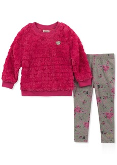 Juicy Couture Girls' Little 2 Pieces Tunic Legging Set -Faux Fur  6X