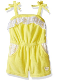 Juicy Couture Little Girls' Romper with Loop Terry Spaghetti Straps