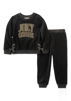 Juicy Couture Girls' Toddler 2 Pieces Pant Set - Velour