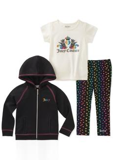 Juicy Couture Girls' Toddler 3 Pieces Jacket Set
