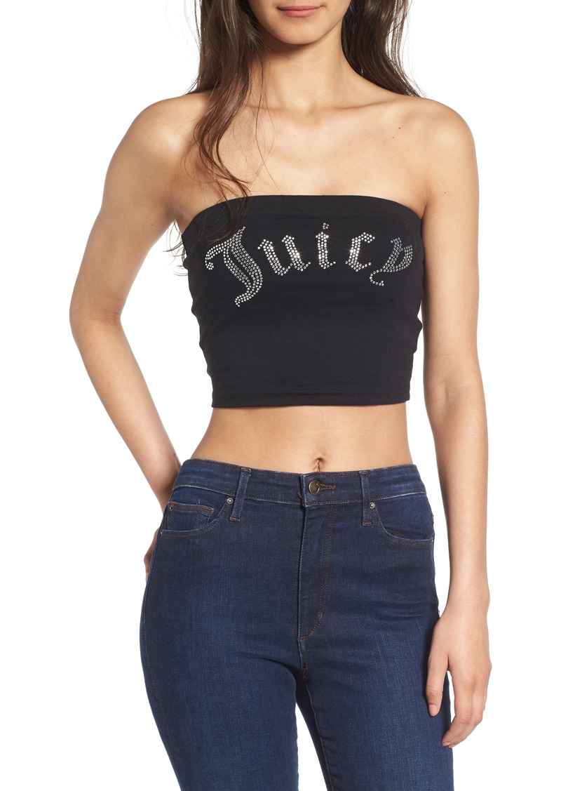 eb2c6a060e Juicy Couture Juicy Couture Gothic Crystals Jersey Tube Top