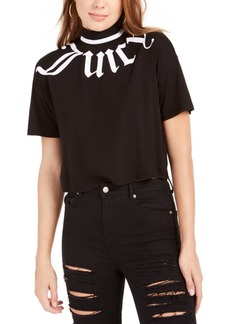 Juicy Couture Gothic Logo Cropped T-Shirt