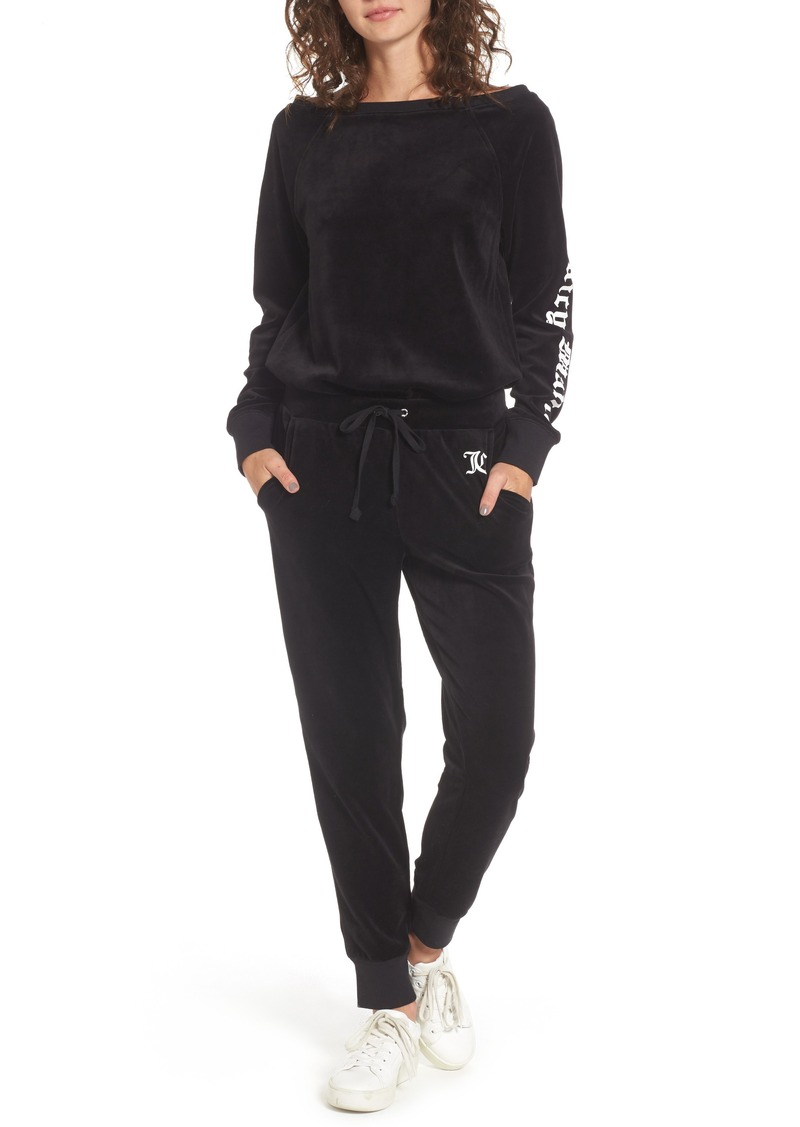f63fd6a673d0 Juicy Couture Juicy Couture Juicy Mania Velour Track Jumpsuit