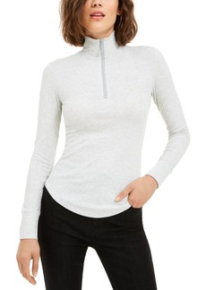 Juicy Couture Juniors' Rib-Knit Half-Zip Turtleneck Top