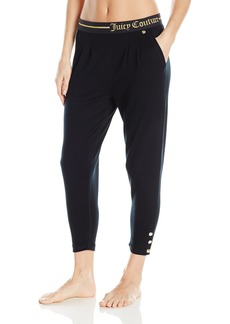 Juicy Couture  Label Women's Lurex Logo Easy Fit Slim Pant